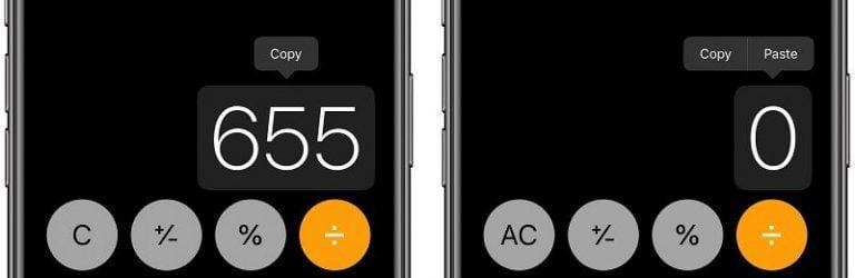 calculator của iPhone