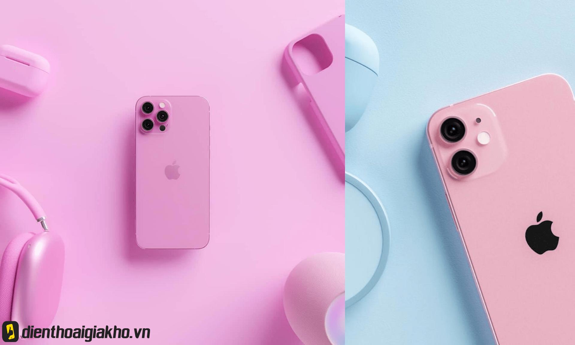Phiên bản màu hồng siêu cute trên dòng iphone 13, làm bao trái tim rung động.