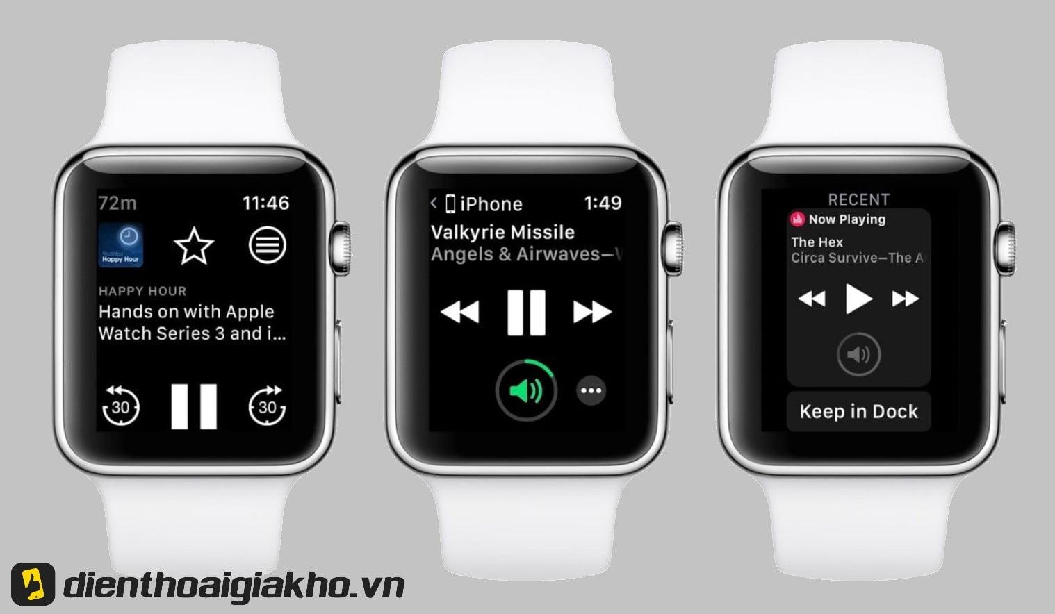 Thưởng thức âm nhạc yêu thích ngay từ chiếc đồng hồ trên tay bạn - một hình thức thư giãn đầy tiện lợi.