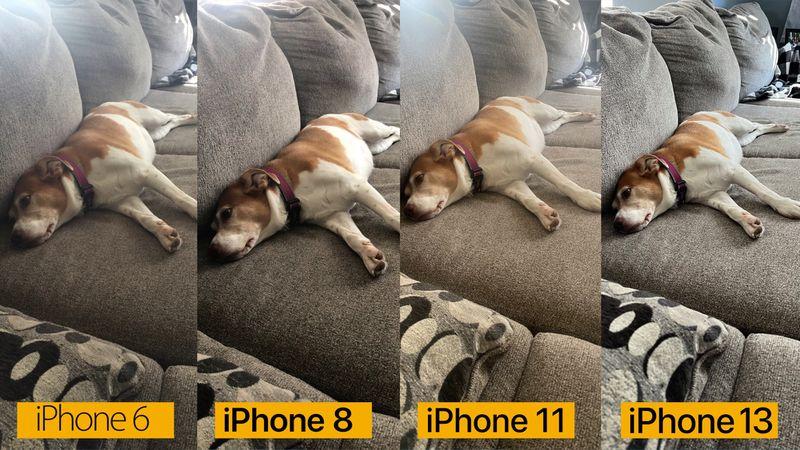 camera iPhone 13 với các dòng iPhone cũ
